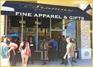 Aromas Fine Apparel and Gifts Ribbon Cutting