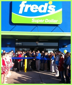 Fred's Super Dollar Ribbon Cutting