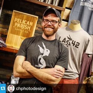 Jeremy Johnson at Pelican Parish Supply Co. Launch Party (photo cred: Casey Habich)