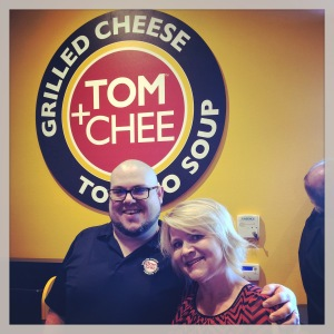 TOM+CHEE Opening Day -  Founder Trew Quackenbush & me