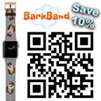 Get 10% off a custom printed pet watchband using code ROBIN89432 at checkout at BarkBand.com